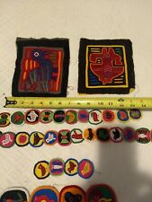 Molas handmade mixed lot large panels and small medallions