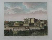 Bastille - Paris - Ansicht von G.A. Baldwyn - Originaler Kupferstich 1794