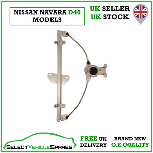 NEW PASSENGER SIDE FRONT LEFT WINDOW REGULATOR FOR NISSAN NAVARA D40 2005-2015