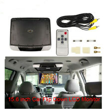Multi-angle15.6'' Wide LCD TFT Car Ceiling Flip Down Monitor Auto Roof Mount TV