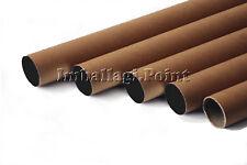 5 tubi CARTONE CON TAPPO PLASTICA SPEDIZIONI POSTALI ALT115x15cm DIAMETRO AVANA