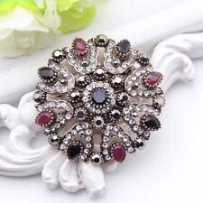 Women Turkish Brooch Islamic Pin Hijab Vintage Arabic Black Retro Ramadan Gift