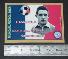 FRANCE DOMINIQUE COLONNA STADE REIMS COUPE MONDE FOOTBALL 1958 STYLE PANINI