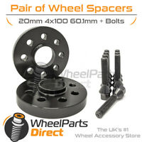 Spacers (2) & Bolts 20mm for Renault Clio [Mk4] 12-19 On Aftermarket Wheels