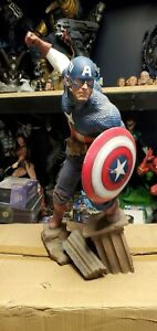 Captain America Statue Premium Format Allied Charge on Hydra Sideshow Exclusive