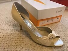 Magrit Gold Peeptoe Court