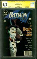 Batman 429 CGC SS 9.2 Death in Family Mike Mignola Signed 1989 Starlin Joker