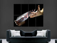 POKER HANDS POSTER CARDS CASINO GAMBLING WALL LARGE IMAGE GIANT