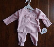 ABSORBA Baby Girls size 6-9 Months Pink 2 Pc Outfit Easter Bunny NEW