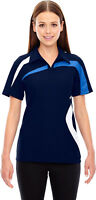 North End Sport Women's Casual Short Sleeve Polyester Polo Shirt. 78645
