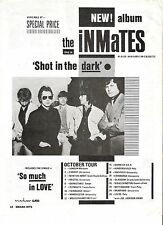 INMATES Shot in The Dark tour 1980 UK magazine ADVERT / Poster 11x8 inches