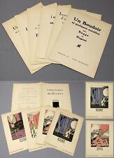 1920-21   Gazette du Bon Ton   6 scarce supplements   with colour pochoir prints