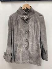 Twiggy The Collection Suede Grey Coat Ladies UK 18