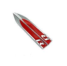2X R line Car Side Wing Fender Emblem Badge Stickers Metal Black for VW Golf Red