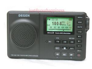 New DEGEN DE1129 DSP AM/FM/SW Radio & Voice Recording and MP3 < NO BATTERY >