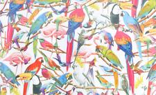 Cortina de Ducha Tropical Aves Loro Flamingo Colibrí Azul Verde Rojo 180x180
