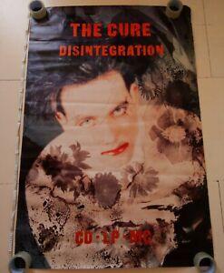 "The Cure – Disintegration, Vintage Original 60"" x 40"" 1989 Billboard Poster"
