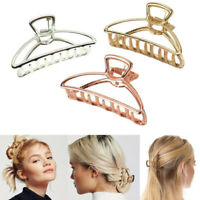 Details about  /Gold global map metal hair claw clip jaw clip