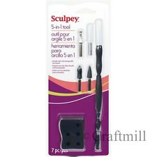 Sculpey & Fimo Polymer Clay - 5 TOOLS IN 1 Starter Set