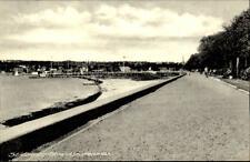 Sønderborg Danimarca cartolina ~ 1950/60 spiaggia lungomare sguardo a ponte Spiaggia