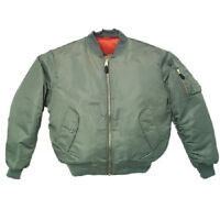 NEW Green (sage) Men's MA-1 Military Style Bomber Flight Jacket Coat sz: Small