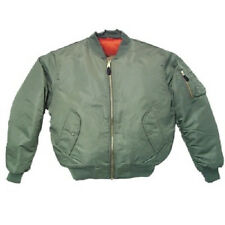 NEW Green (sage) Men's MA-1 Military Style Bomber Flight Jacket Coat sz: Medium