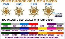 SECURITY VEHICLE 7 POINT STAR EMBLEM DECALS - FREE SHPN