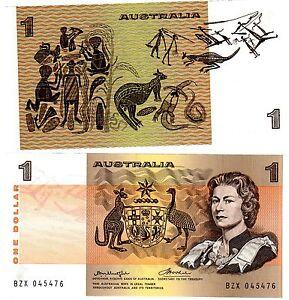 Australie AUSTRALIA Billet 1 Dollar ND (1976) P42b1 CENTER THREAD QE2 NEUF UNC