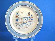 Salad Plate Primitif Hearthside Museum Collection Blue Band Country House Scene