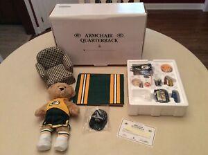 The Danbury Mint Green Bay Packers Armchair Quarterback Collector Teddy Bear!