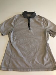 Lululemon Mens Small Gray Performance S/S Polo Shirt EUC