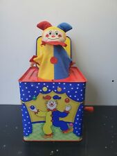 Vtg Schylling 90s 1997 Jack In The Box Musical Classic Toy Red Yellow Blue Works