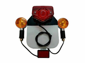 Royal Enfield Rear Number Plate With Indicator, Tail Light & Reflector