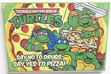 """TMNT Teenage Mutant Ninja Turtles Pizza MAGNET 2""""x3"""" Fridge Locker"""