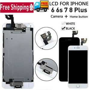 Full Replacement LCD Touch Screen With Button & Camera for iPhone 6 6S 7 8 Plus