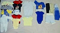 Lot of 21 Used Boys Clothing Mixed Items Size 0-3 Months, 1zeez, Shirts, Pants