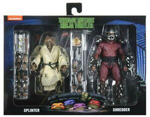 NEW Teenage Mutant Ninja Turtles TMNT Movie Splinter Shredder NECA Figure 2 Pack