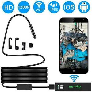 1200P Wifi Endoskop Inspektion Kamera 8LED USB Endoscope Rohrkamera Wasserdicht