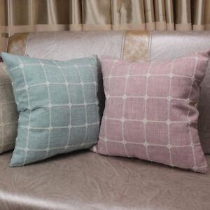 CURCYA Home Decorative Cushion Cover for Sofa Jacquard Plaid Throw Pillow Covers