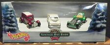 HOT WHEELS 2000 VINTAGE HOLIDAY HOT RODS 3 CAR SET MINT IN BOX