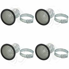 4x Velocity Stack 39mm 1 9/16 Universal Carb Air Horn Clamp On Mesh Filter Set