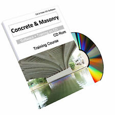 Concrete Masonry Construction BrickLaying Cement Training Manual Course CD Book