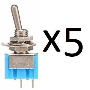 5 x ON-OFF Sub Miniature Small Mini Toggle Switch SPST MTS-101