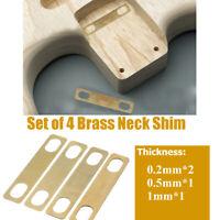 Set Mit 4 Messing Hals Unterlegscheiben Für Gitarre Bass Dicke 0.2mm 0.5mm 1mm
