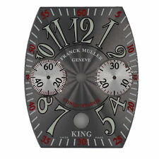 Franck Muller Conquistador King Silver Guilloche Arabic Date Chrono Dial 29-35mm