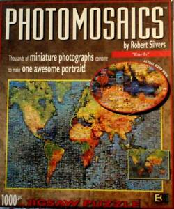 1000 PIECE PHOTOMOSAICS JIGSAW PUZZLE EARTH COMPLETE EXC CONDITION