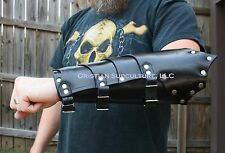 Leather Dragon Rider Bracers w Short Elbow Arm Armor vambraces fantasy armour