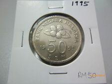 C: Malaysia 50 Sen 1995 - AUNC