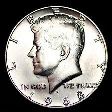 1968-D Kennedy 40% Silver Half Dollar GEM BU FREE SHIPPING