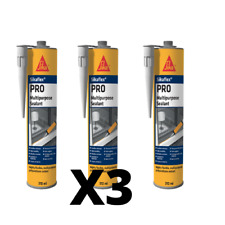 Sikaflex Pro Concrete Grey Polyurethane Multi Purpose Sealant 310ml X3